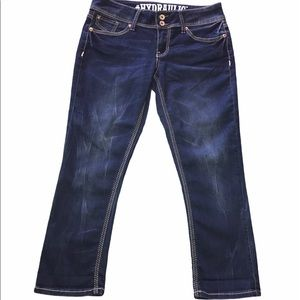 Hydraulic Bailey Low Rise stretch cropped jeans